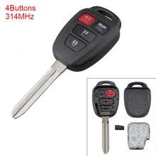 цены на 314MHz 4 Buttons Portable Keyless Uncut Flip Remote Key Fob HYQ12BEL with H Chip for Toyota Camry Corolla 2014-2017  в интернет-магазинах