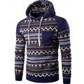 2016 New Men's Sportswear Hoodies Stripe Printed Ethnic Style Sweatshirts Men Casual Stitch Raglan Sleeve Hooded Jacket Sudadera