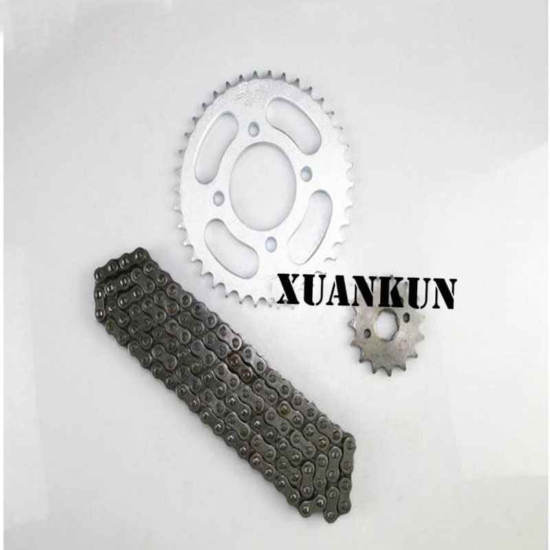 XUANKUN Motorcycle Chain Chain Wheel 125 JD125 Size Sprocket Tooth Disk Chain Cover Chain 428H 116L