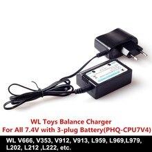 Wholesale 10sets/lot RC Helicopter&RC Car parts WL Toys accessory Balance Charger For WL V666 V353V913 V912 L959L969 L202Charger