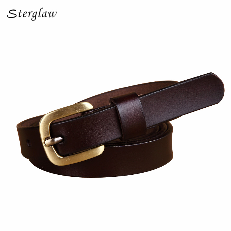 Simple thin genuine leather belts