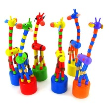 2016 New Arrival Baby Kids Wooden Toys Developmental Dancing Standing Rocking Giraffe Handcrafted Toy children Gifts