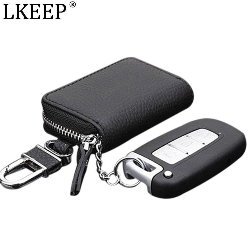 PU Leather Car Key Wallets Men Women Key Holder Housekeeper Keys Organizer Keychain Cover Zipper Keys Case Bags Key Pouch Wallet
