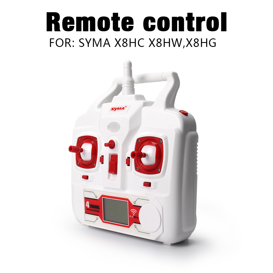 100% Original SYMA Transmitter Remote Control For SYMA X8HC X8HW X8HG RC Helicopter Quadcopter Drone Spare Parts original rc helicopter 2 4g 6ch 3d v966 rc drone power star quadcopter with gyro aircraft remote control helicopter toys for kid