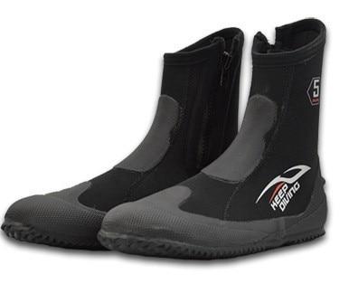 5MM 스노클링 슈즈 Neopren High Upper 스쿠버 다이브 부츠 Coldproof 미끄럼 방지 킵 워엄 비치 신발 낚시 겨울 수영 핀 부츠