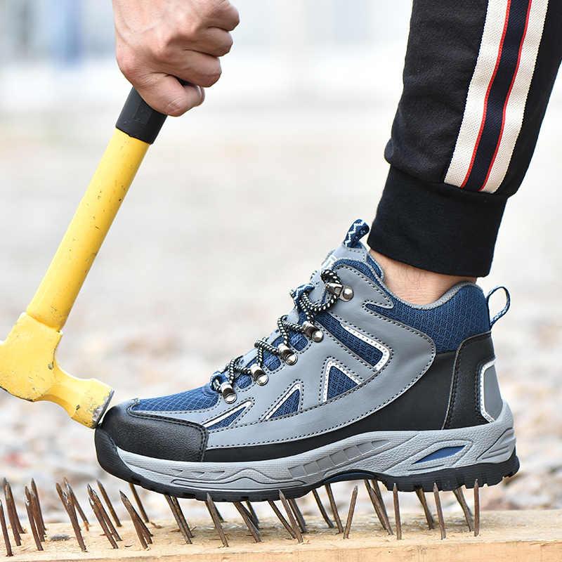 2019 Nieuwe mannen Bouw Outdoor Hoge Top Stalen Neus Veiligheid Boot Schoenen Mannen Punctie Proof Werk Schoenen Winter laarzen