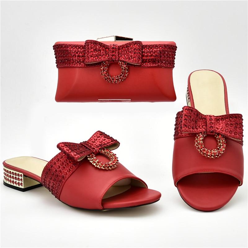 Strass or Avec Assortis Luxe De Et Nigérian Sacs Arrivée sliver Chaussures Décoré Ensemble Sac blue rouge Noir Les Italiennes Nouvelle Designers Femmes vxU66O