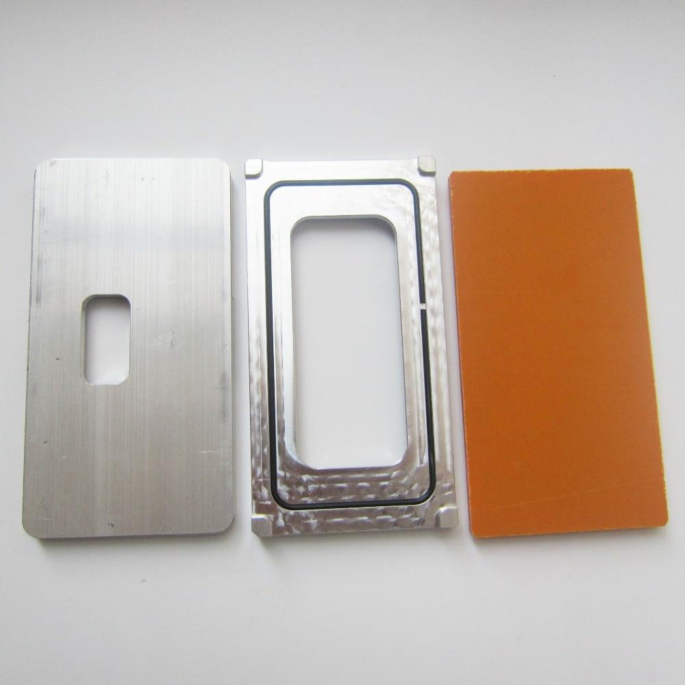 Panbon 1set For iphone x /10 Precision aluminium mould Laminator mold metal front glass frame Location For OCA Machine user