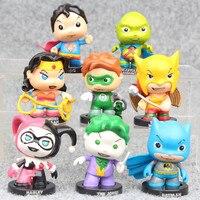 Superhero 8Pcs Set Green Lantern Wonder Woman Superman Batman Harley Quinn Avenger Furnishings High Quality Collection