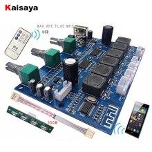 Placa de amplificador de Audio TPA3118, Subwoofer, 2x30W + 60W, HIFI, 2,1 canales, Bluetooth 4,2, amplificador Digital con B6 001 remoto en disco U