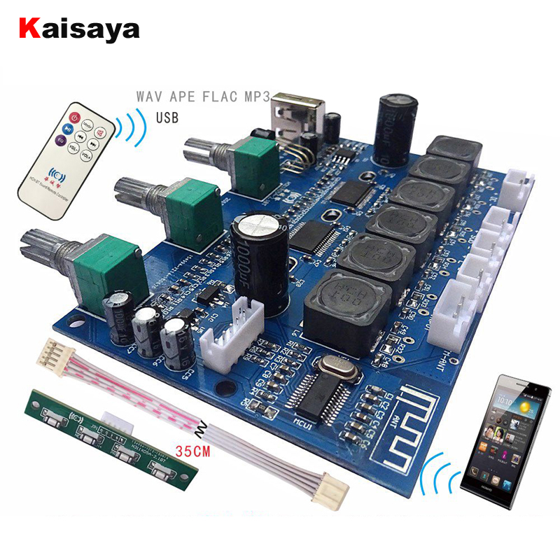 TPA3118 Subwoofer Audio Amplifier Board 2X30W+60W HIFI <font><b>2.1</b></font> Channel <font><b>Bluetooth</b></font> 4.2 Digital Amplifier With U Disk Remote B6-001 image