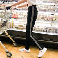 Striped Pants Women Harem Casual High Waist Plus Size Pantalon Femme Loose Sweatpants Trousers 100kg