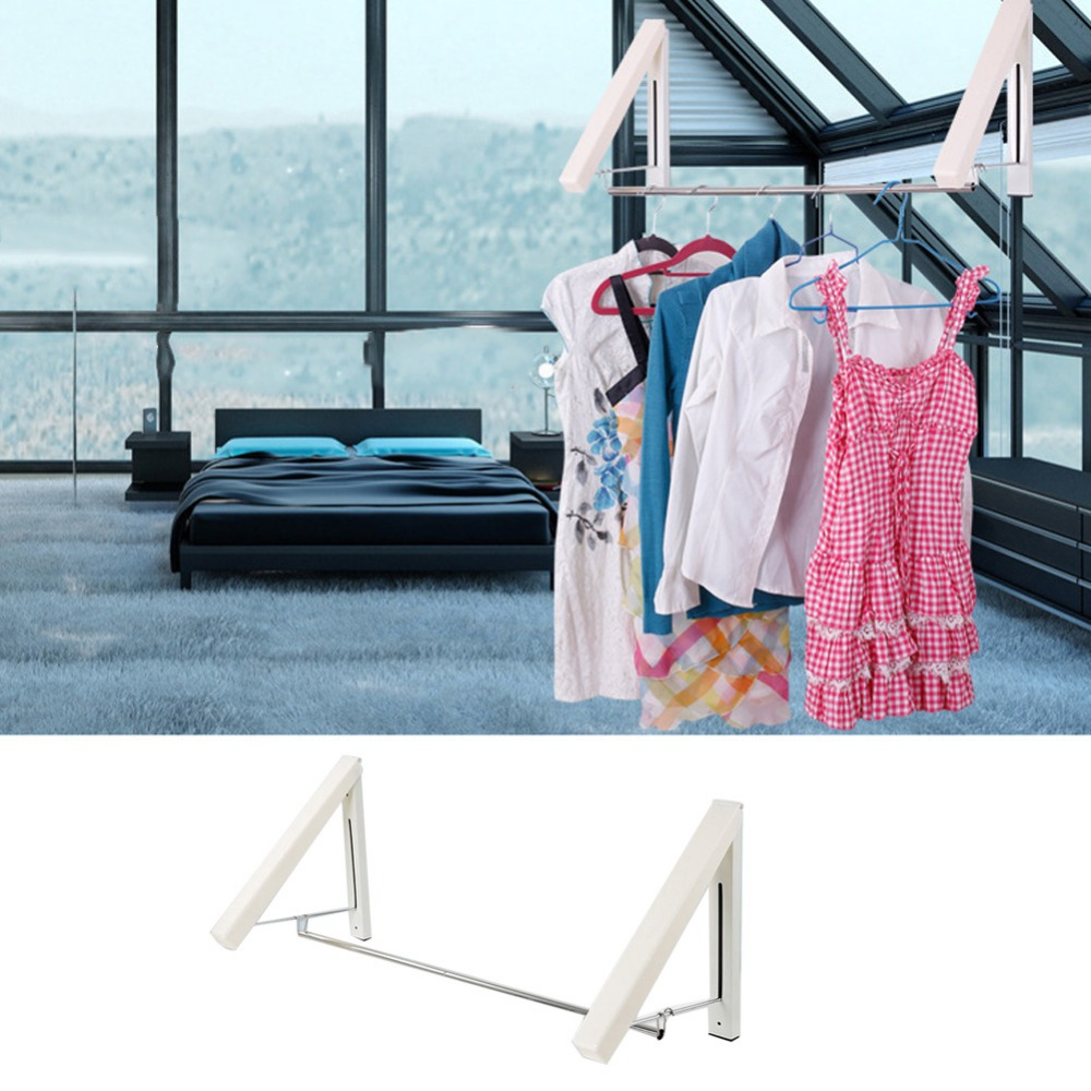 Home Use Foldable Indoor Clothes Hanger Drying Rack Invisible Coat ...