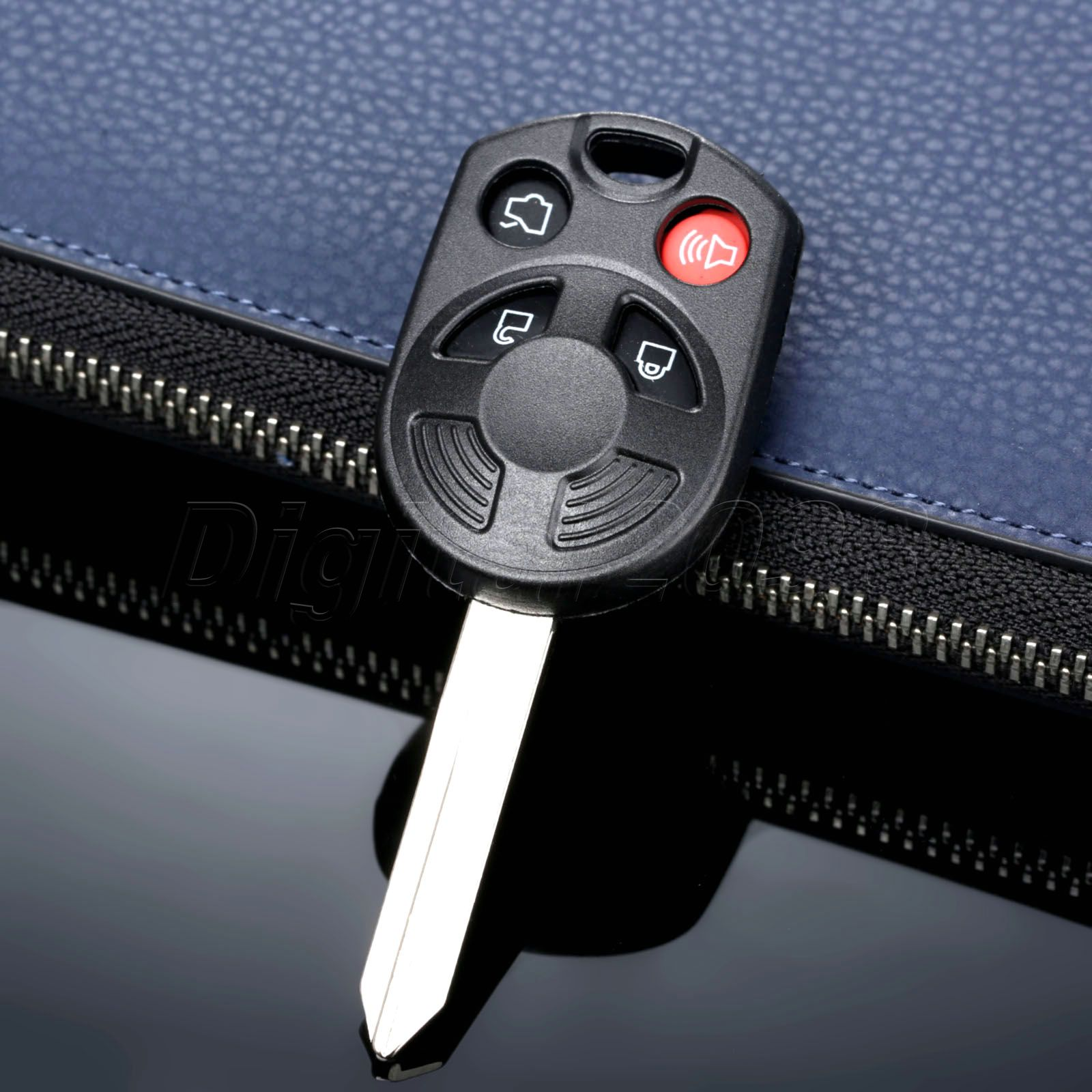 Yetaha new 4 button remote key shell case keyless entry fob uncut for ford escape expedition