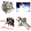 2pcs/Lot  5630 33SMD H4 LED Bulbs 6000K Super White with LENS Car Headlights Auto Lamp 12V 4W