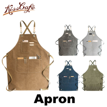Barista Apron Coffee Cooking Kitchen Chef Waiter Cafe Shop BBQ Hairdresser Aprons Gift Bibs Wholesale Accessories