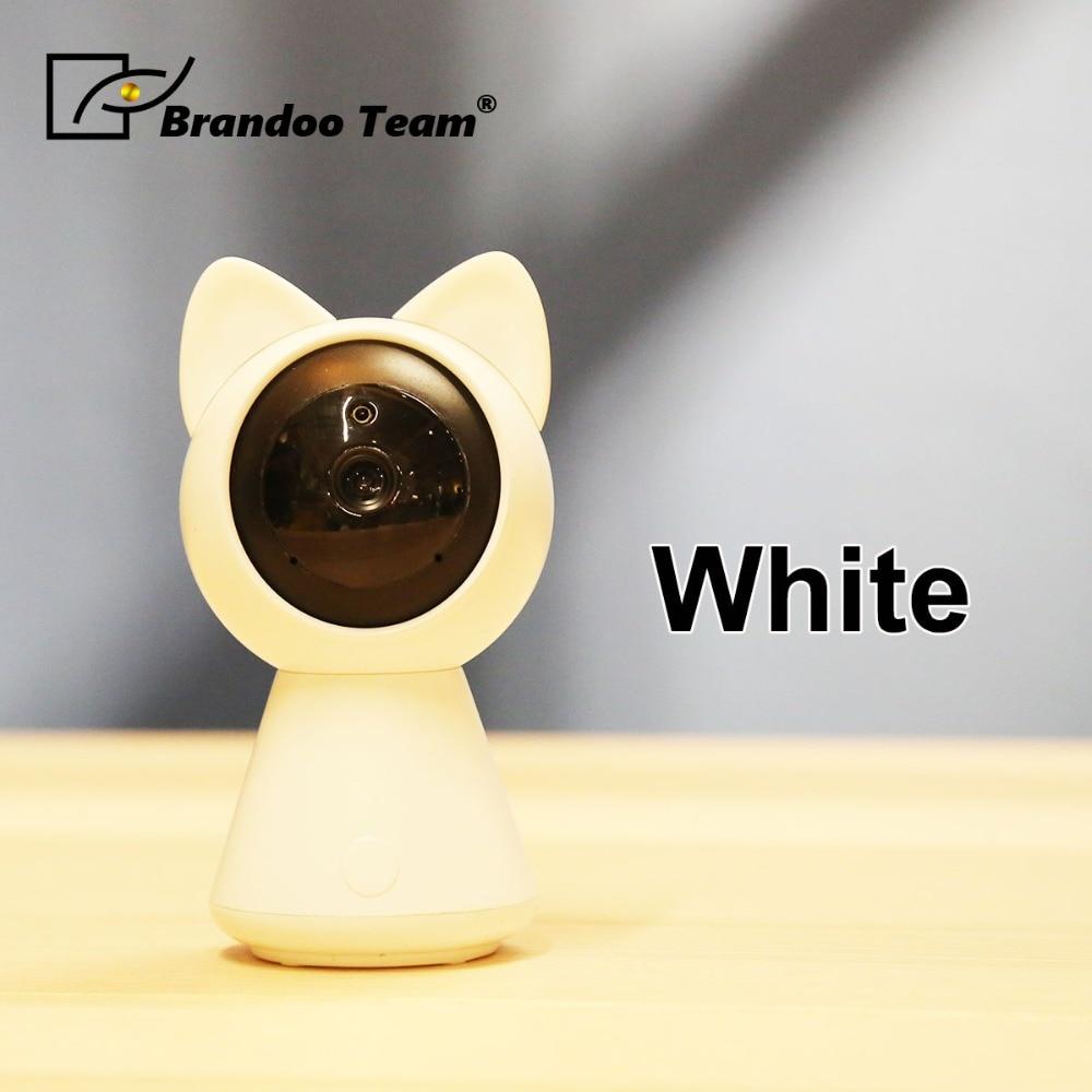 HD 1080P WiFi Cute Cat Smart IP Camera Security WiFi Camera P2P Night vision Motion Detection 2-way Audio+TF Card Slot цена