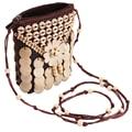 2017 Primavera New Casual Handmade Sacos de Telefone bolsa de Ombro Retro das Mulheres Handmade Coconut Shell Beads Flores Bolsa Shopping Bag