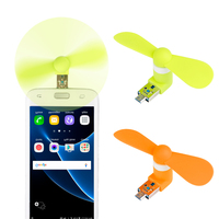 1000pcs/lot 2 in 1 Mini Cool Portable PowerBank USB Fan Micro USB fans Gadget Tester For HTC LG OPPO android mobile phone