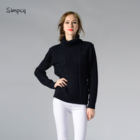 Simpcq Turtleneck Women Warm Knitted Sweaters Winter Autumn 2017 Solid Pullovers Female Basic Clothes Oodji Style