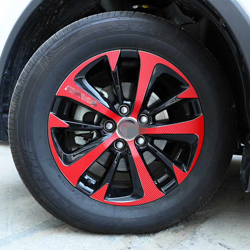 Maremlyn Red/Black/Gold Wheel Hub Stickers Waterproof Carbon Fiber /Car Wheel Hub Stickers Fit For New Rav4 2014 2015 аксессуар чехол speck stylefolio для ipad mini 4 carbon fiber black crimson red 73885 5077