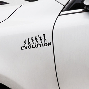 Image 3 - 15.4*6.3CM EVOLUTION Auto Body Decoratie Auto Vinyl Sticker Embleem Accessoires voor Chevrolet Aveo Trax Cruze Honda Civic volvo