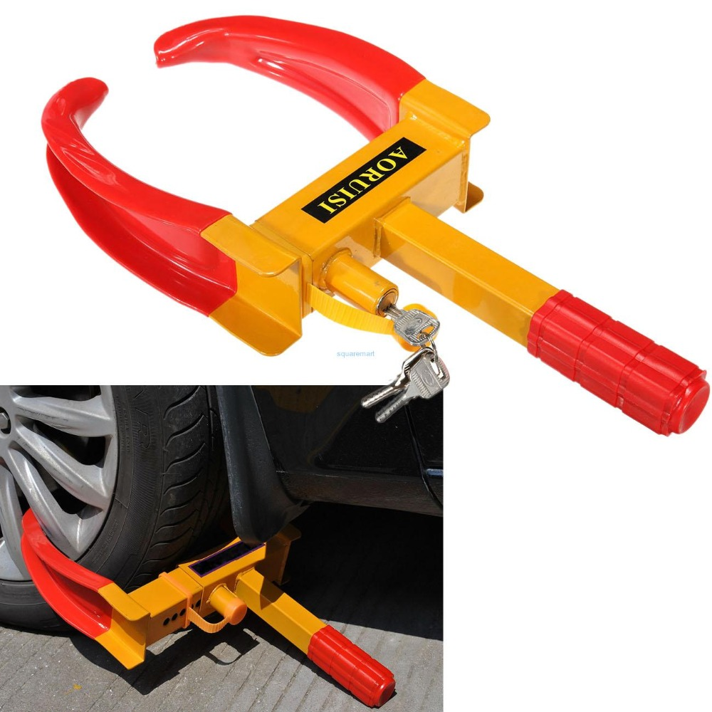 Ship from Germany! Car Wheel Tire Clamp Lock with Key Cars Trailer Caravan Security Anti Theft tyre lock все цены