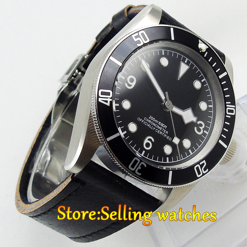 41mm corgeut black dial black bezel Sapphire glass miyota automatic mens Watch polisehd 41mm corgeut black dial sapphire glass miyota automatic mens watch c102