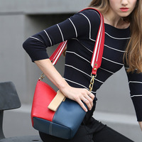 CHARMIYI 2018 Spring Luxury Genuine Leather Women Shoulder Bag Small Hobos Woman Messenger Bags Casual Panelled