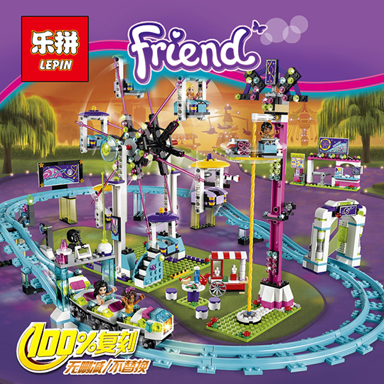 lepin 01008 1124Pcs Park Roller Coaster Building Blocks sets for city girls friend Amusement compatible with blocks Toys 41130 2016 new lepin 01008 1124pcs amusement park coaster building kits girl friend blocks bricks toys compatible gift 4113