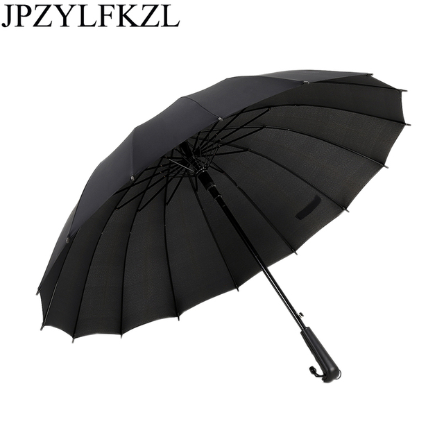 ca0213a3ddee US $15.4 25% OFF|JPZYLFKZL16k Hot sell long handle outdoor straight  umbrella large golf umbrellas two or three people compact umbrellas  parasol-in ...