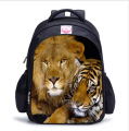 Animal Lion Tiger Kids Backpack Travel Backpacks Boys Tiger Printing Backpack Child Bagpack Children School Bags For Teenagers