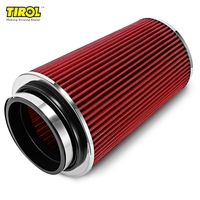Free Shipping Quality aluminum Air Filter Universal Auto Cold Air Intake Adjustable Neck Cleaner Reduce Engine Intake Resistance