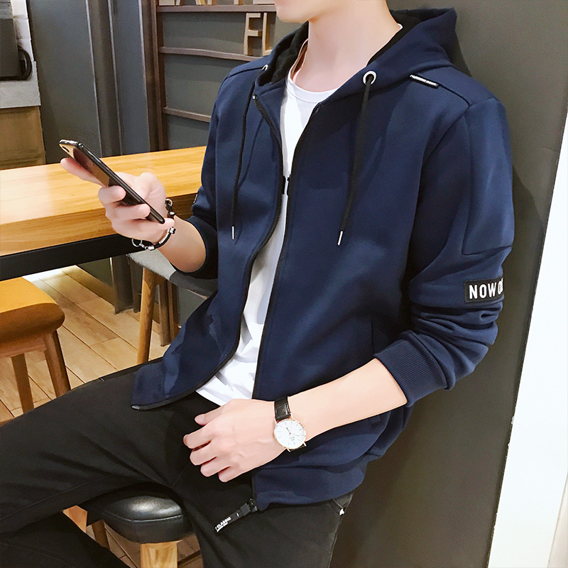 YWSRLM New men's sportswear autumn winter Zip card hoodies Sweatshirts casual men clothes 2018 track suit jogging homme size 4XL 18