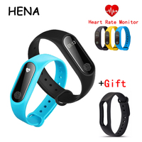HENA Smart band M2 Bluetooth4.0 Waterproof IP67 Smart Watch M2 Heart Rate Monitor Sleep monitor Android Smartwatch for Xiaomi