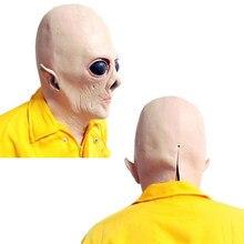 Grandes Olhos UFO Alienígena Halloween máscara de Cabeça Cheia Máscara  Horrible Adulto Traje Assustador Rosto bfb49b0bf93
