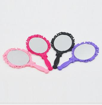 New retro butterfly handle mirror portable hand makeup mirror beauty single mirror