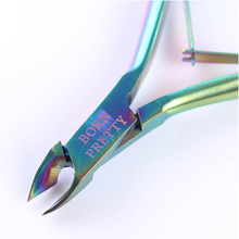 1Pc BORN PRETTY Nail Cuticle Nipper Rainbow Clipper Scissor Dead Skin Remover Manicure Art Tool
