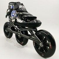 Оригинальный powerslide C6 конькобежный спорт обувь профессиональные взрослый ребенок роликовые коньки с 120 мм колеса роликовые коньки колеса