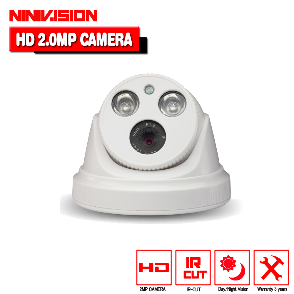 1920 x 1080P 2.0MP CCTV AHD Camera Sony IMX322 indoor Outdoor 2 Array LED IR Dome Camera Night Vision Security Cam w/ IR-Cut 4 in 1 ir high speed dome camera ahd tvi cvi cvbs 1080p output ir night vision 150m ptz dome camera with wiper