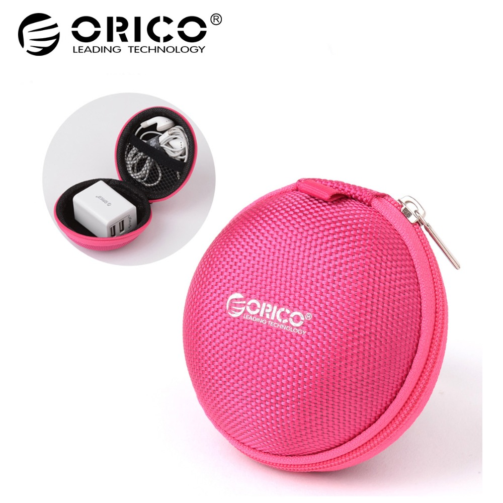 ORICO Portable Case for Headphones Case Mini Zippered Round Storage Hard Bag Headset Box for Earphone Case SD TF Cards Earphone portable pp1440 cd zippered bag black page 6