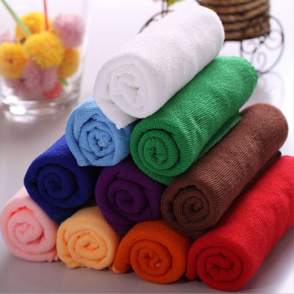 ღ Ƹ̵̡Ӝ̵̨̄Ʒ ღ10 unids/lote algodón cocina Toallas Cara paño de lana ...