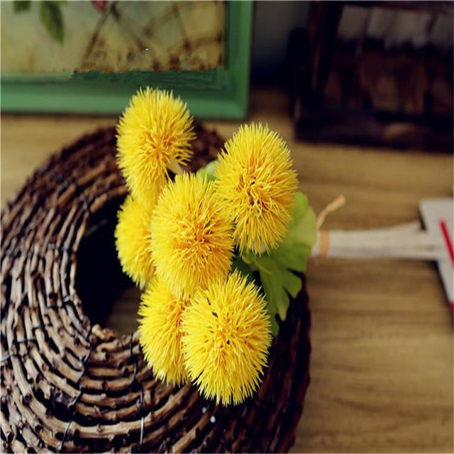 Online shop 6pcs high grade artificial flower small thorn ball 6pcs high grade artificial flower small thorn ball plastic flowers home decorative flower arranging 5 color wedding accessories mightylinksfo Image collections