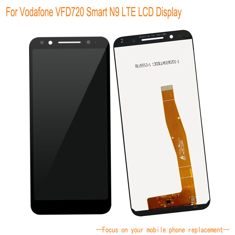 LCD Display For Vodafone VFD720 Smart N9 +5.5 Touch Panel Touch Screen Senor Digitizer Mobile Phone Assembly ReplacementLCD Display For Vodafone VFD720 Smart N9 +5.5 Touch Panel Touch Screen Senor Digitizer Mobile Phone Assembly Replacement
