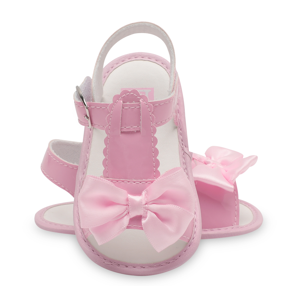 Baby Sandle Solid Color Newborn Girls Sandle Walker Shoes Butterfly-Knot Summer Shoes fo ...