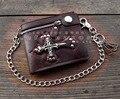 Gothic Skull Cross Vintage Card Holder Wallet For Men Boy Gift