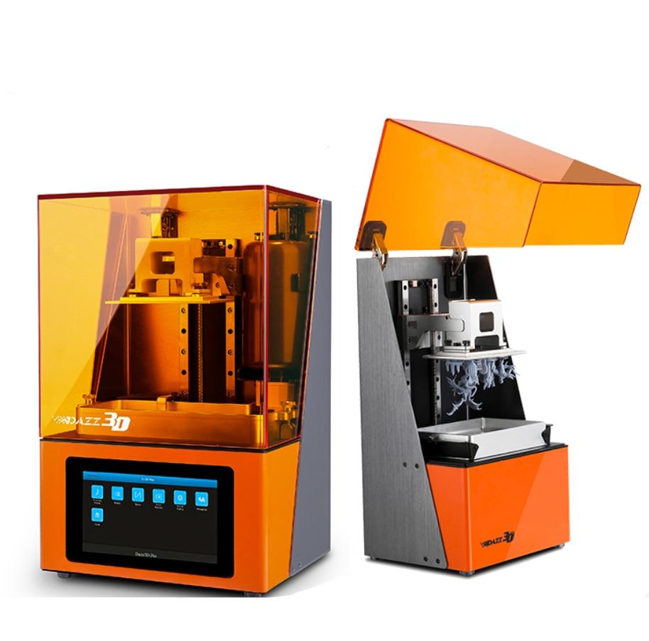 Imprimante 3D Dazz 3D uv LCD SLA/DLP 3d haute précision impression 3D pour bijoux dentisterie modèles de précision résine 405nm