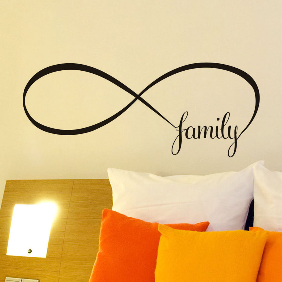 Simple Design Family Wall Art Sticker Decals Means Endless Love ...
