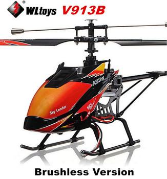 NEW Upgrade WLtoys V913 V913B Brushless Version 4CH Single Blade Big RC Helicopter RTF 2.4G with Brushless Motor