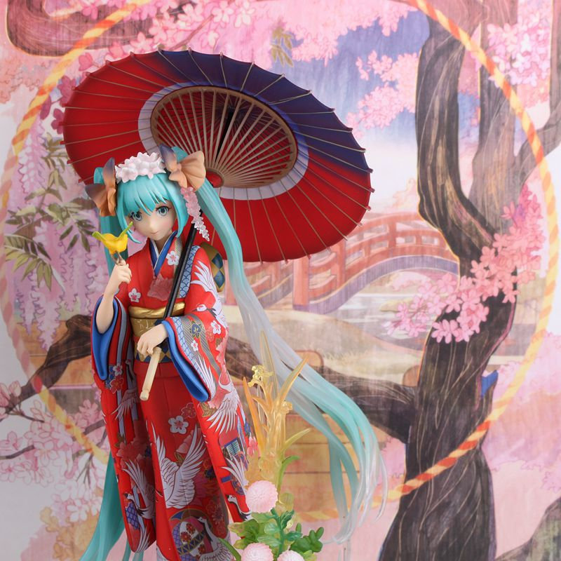 Hot-selling 1pcs 20CM pvc Japanese anime figure Stronger Hatsune Miku kimono ver action figure collectible model toys brinquedos new arrival 1pcs 18cm pvc japanese anime figure hatsune miku budokan ver action figure collectible model toys brinquedos